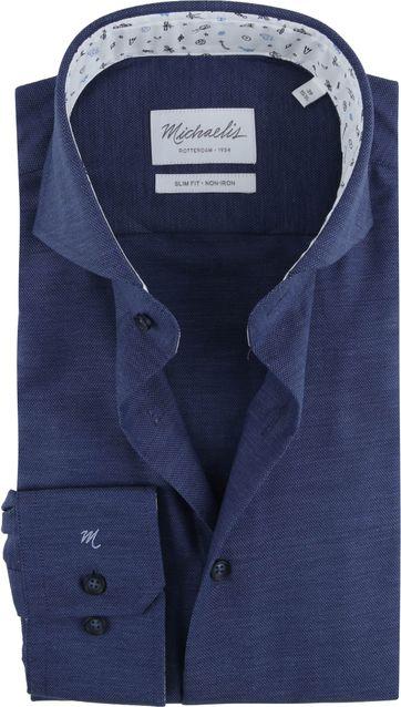 Michaelis Skinny Shirt Oxford Navy