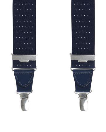 Michaelis Suspenders Dots Dark Blue