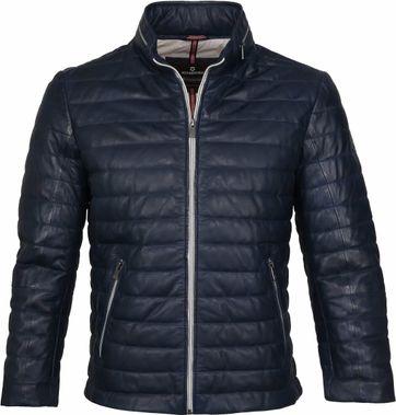 Milestone Tereno Leather Jacke Dunkelblau