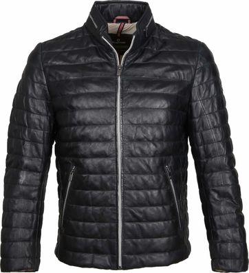 Milestone Tereno Leather Jacke Navy Grey