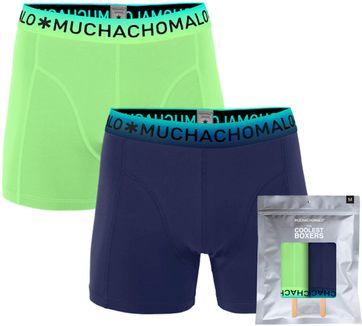 Muchachomalo Boxershorts 2er-Pack Blau Grün