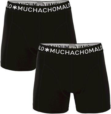 Muchachomalo Boxershorts 2er-Pack Solid Black