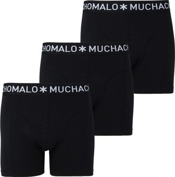 Muchachomalo Boxershorts 3er-Pack Schwarz 185