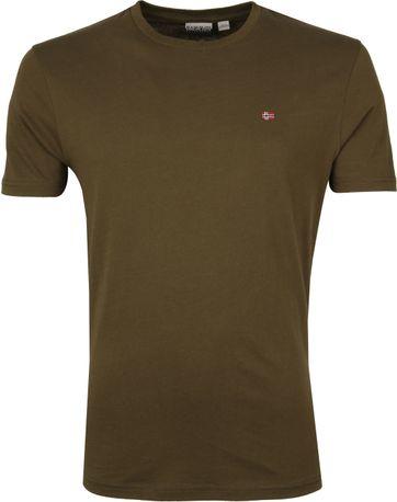 Napapijri Selios T-shirt Donkergroen