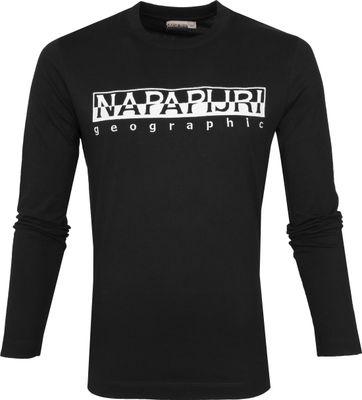 Napapijri Serber T-Shirt Zwart