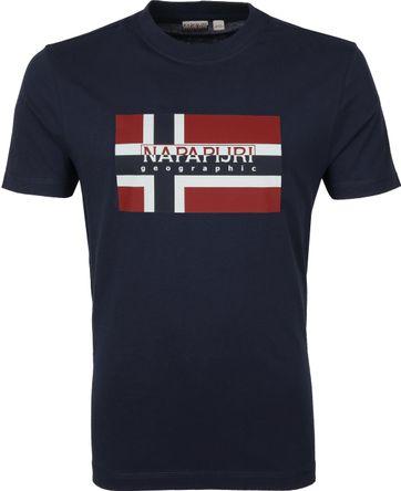 Napapijri Sovico T-shirt Donkerblauw