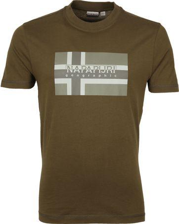 Napapijri Sovico T-shirt Donkergroen