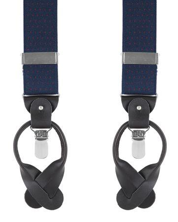 Navy-Rood Bretels Luxe
