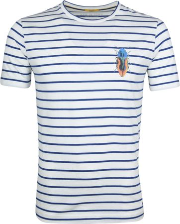 New In Town T-Shirt Strepen Wit
