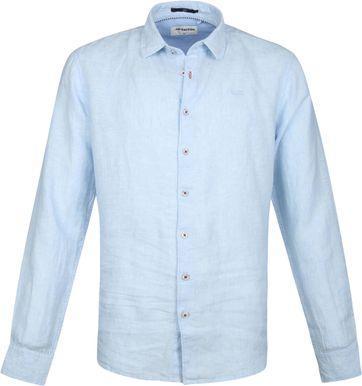 No-Excess Leinen Hemd Hellblau