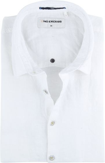 No-Excess Linen Shirt Uni White