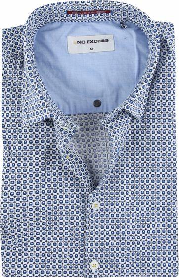 No-Excess Overhemd Blauw