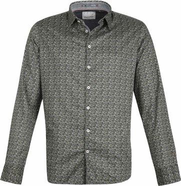No-Excess Overhemd Dessin Donkergroen