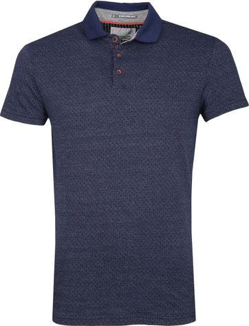 No Excess Poloshirt Jacqurard Spacedyed Blau