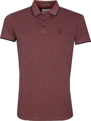 No Excess Poloshirt Melange Pink