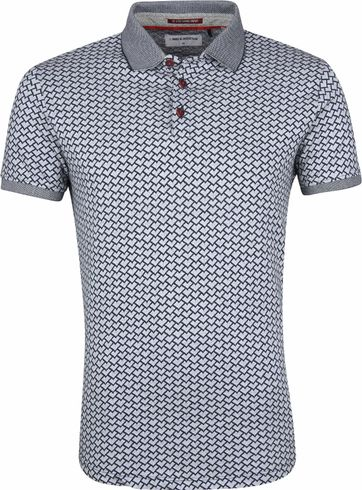 No Excess Poloshirt Navy Grey