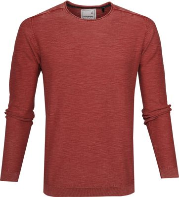 No-Excess Pullover Brick Red