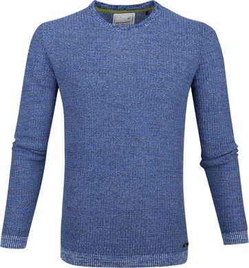 No-Excess Pullover Melange Blauw