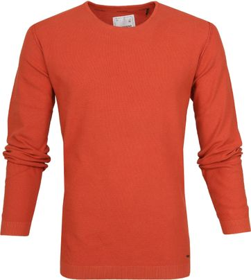 No-Excess Pullover Waffle Brick Oranje