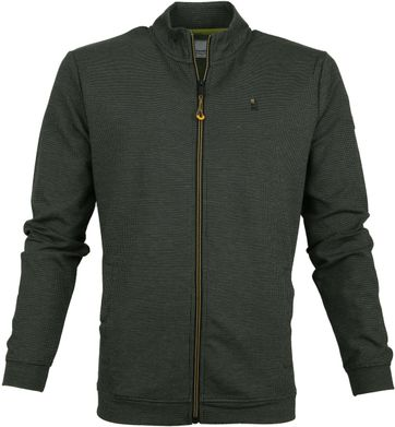 No-Excess Pullover Zip Dark Green