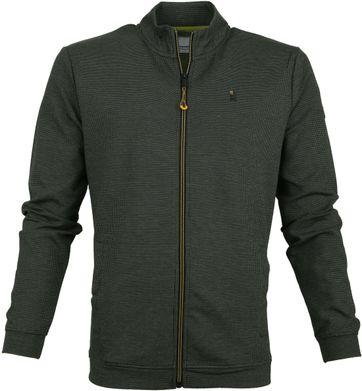 No-Excess Pullover Zip Dark Green