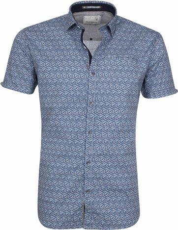 No-Excess Shirt Blue Print