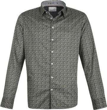 No-Excess Shirt Dessin Dark Green