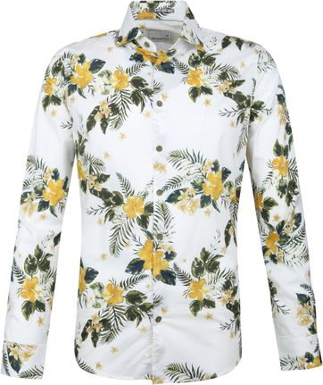No-Excess Shirt Print Hibiscus