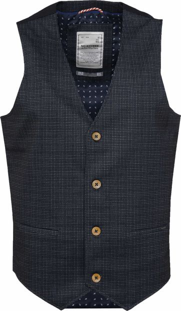 No-Excess Waistcoat Navy Stretch