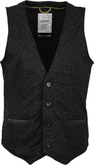 No-Excess Waistcoat Stretch Black
