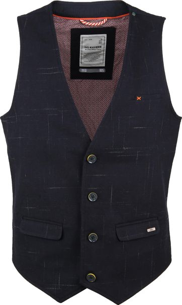 No-Excess Waistcoat Stretch Navy