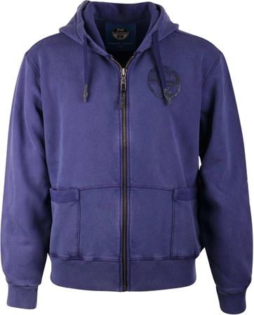 North Sails Cardigan Hoodie Purple