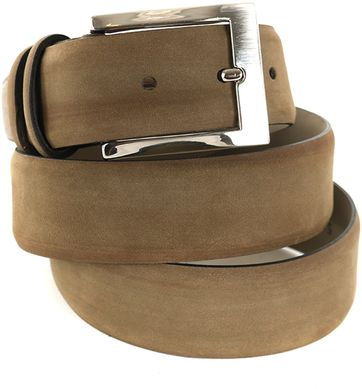 Nubuck Leather Green Belt