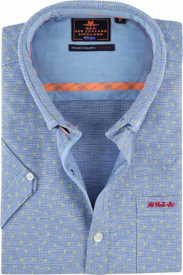 NZA Overhemd Magellan Blauw Groen