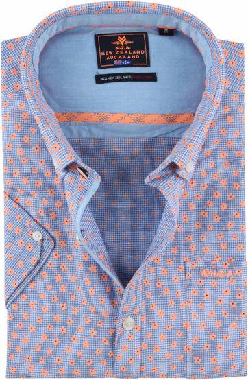 NZA Overhemd Magellan Blauw Oranje