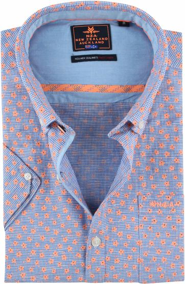 NZA Shirt Magellan Blue Orange