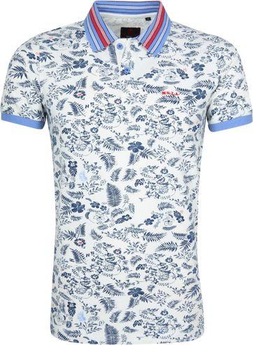 NZA Taupo Poloshirt Wit Navy