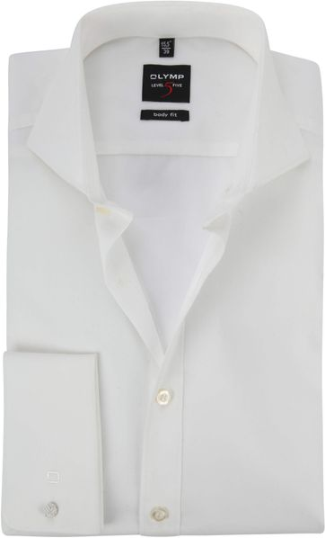 Olymp Body Fit Shirt Double Cuffling Off-White
