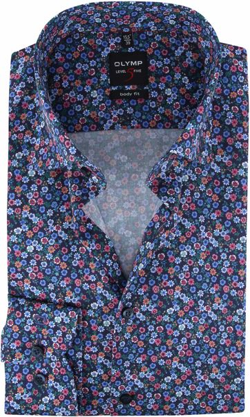 OLYMP Hemd Lvl 5 Blumen