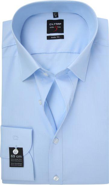 OLYMP Level Five Hemd SL7 Hellblau Body Fit