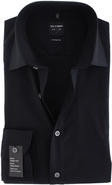 Olymp Level Five Shirt SL7 Body-Fit Black