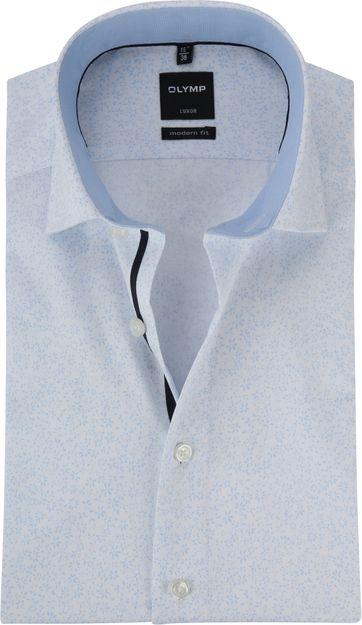 OLYMP Luxor Bloem Overhemd MF Wit