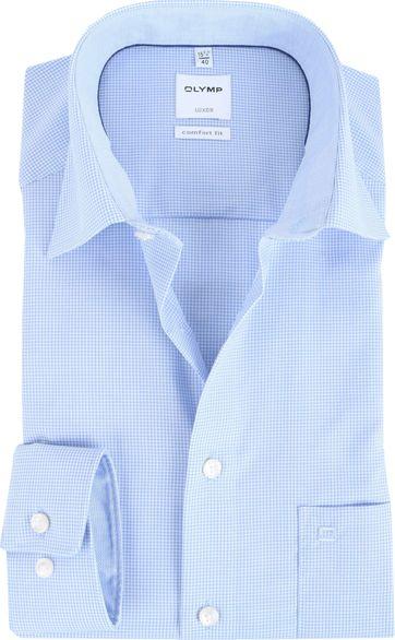 OLYMP Luxor Comfort Fit Hemd Blau Karo