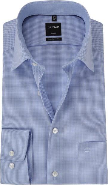 OLYMP Luxor MF Blue Checks Shirt