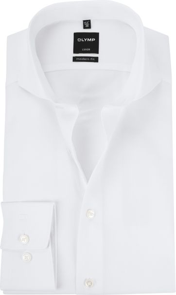 OLYMP Luxor MF Overhemd Twill Wit