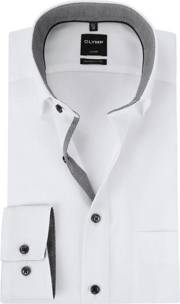 OLYMP Luxor MF Wit Grijs Overhemd