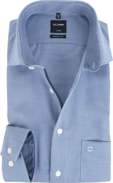 OLYMP Luxor Modern Fit Shirt Royal Blue