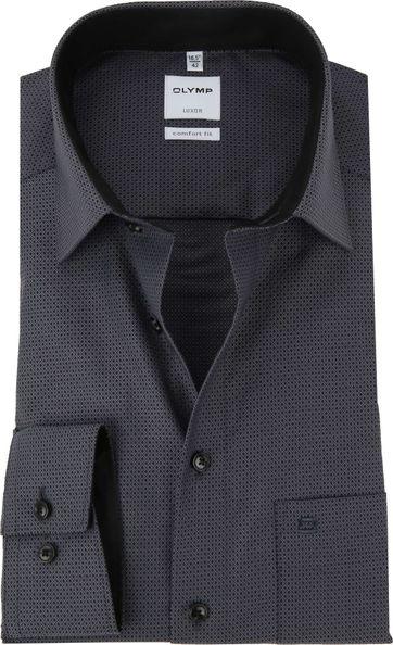 OLYMP Luxor Overhemd CF Dessin Antraciet