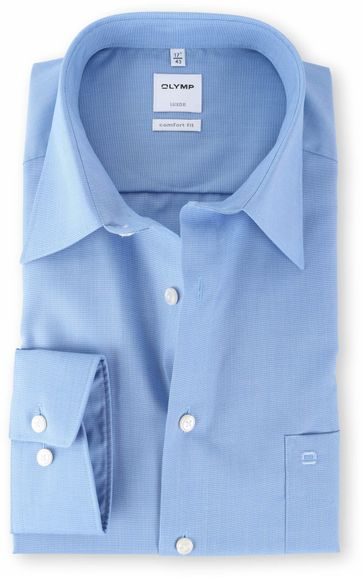 OLYMP Luxor Shirt Blauw Comfort Fit
