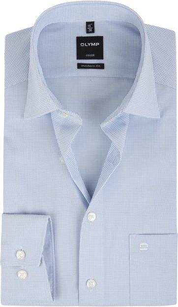 Olymp Luxor Shirt MF Blue Checks